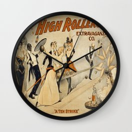 Vintage poster - The High Rollers Extravaganza Wall Clock