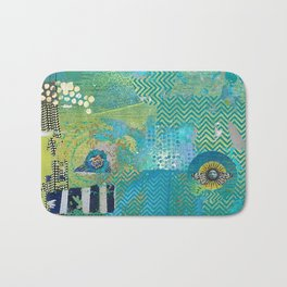 Afterlife Abstract Art Collage Bath Mat