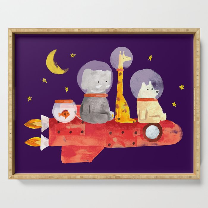 Let's All Go To Mars Serving Tray