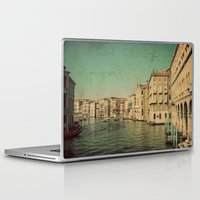 postcard Laptop & iPad Skins featuring Venice postcard by Sylvia Cook Photography