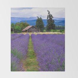 Little Lavender Farm Throw Blanket