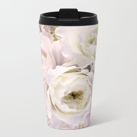 Romantic Roses Metal Travel Mug