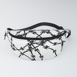 Trapped Black on White Fanny Pack