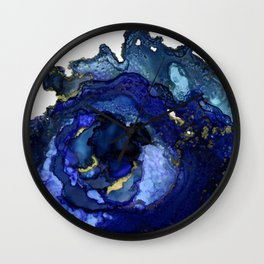 Blue Agate No1 Wall Clock