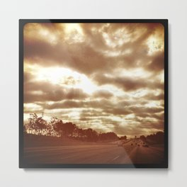 Sunday morning drive to work. Metal Print