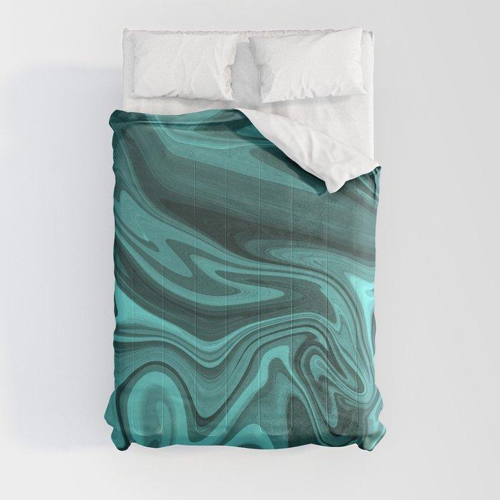 Teal Twirl Comforters