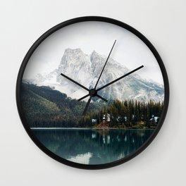 Lake in Canada Rocky Mountains Alberta British Columbia Wall Clock