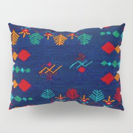-A17- Anthropologie Moroccan Blue Artwork. Pillow Sham