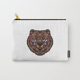 Bear with LGBT+ glasses Carry-All Pouch