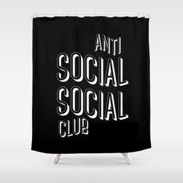 Anti Social Social Club Shower Curtain