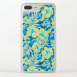 Bright Tropical Hibiscus Clear iPhone Case