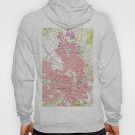 Vintage Map of Roanoke Virginia (1963) 2 Hoody