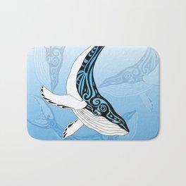 Humpback Whale Blue Spirit Tribal Art Bath Mat