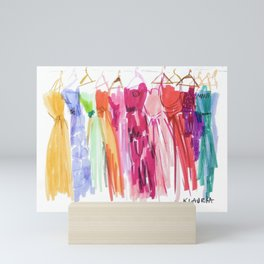 Prom Gowns Mini Art Print