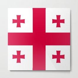 Georgia flag emblem Metal Print