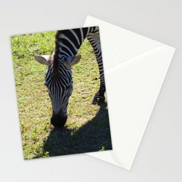 Zebra Munching Stationery Cards