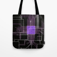Circuit board purple Tote Bag