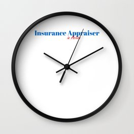 Happy Insurance Appraiser Wall Clock