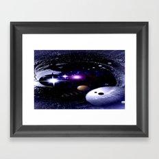 Sternenwelt abstrakt. Framed Art Print