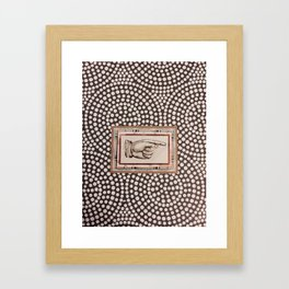 Pointed Finger Framed Art Print