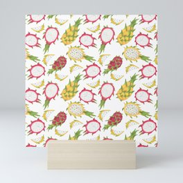 Dragon Fruit Pattern Mini Art Print