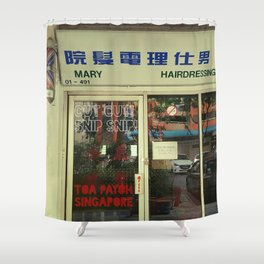 BARBER Shower Curtain