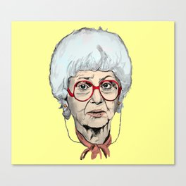 Sophia Petrillo from The Golden Girls (Yellow) Canvas Print