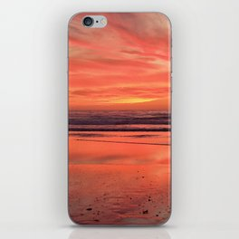 Sky on  Fire - At the Beach iPhone Skin