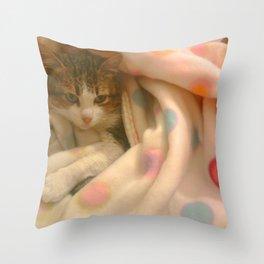 Kitty photo Throw Pillow