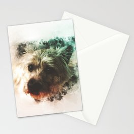 Cairn Terrier Digital Watercolor Painting Stationery Cards