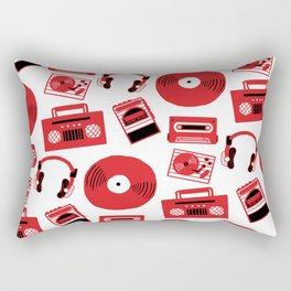 Red Music Rectangular Pillow