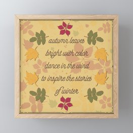 Autumn Leaves of color; poem; seasons change Framed Mini Art Print