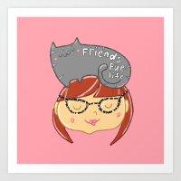 Friends Fur Life - Red Head Art Print