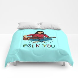 Folk You Guitar Hippie Comforters