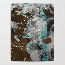 Stripes with Gold Poster