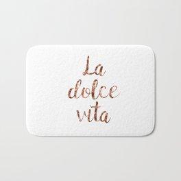 Rose gold La Dolce Vita Bath Mat