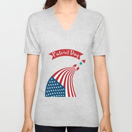 Patriot Day - September 11 - Send the best Wish to those who suffered Unisex V-Neck