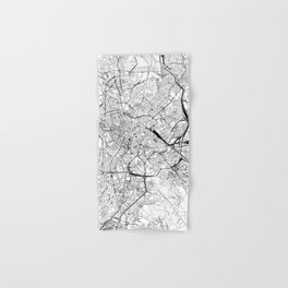 Rome White Map Hand & Bath Towel