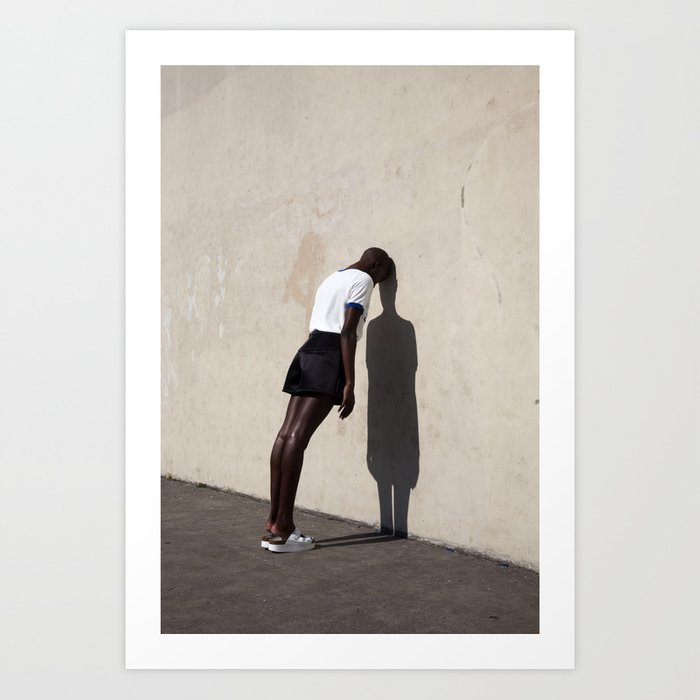 Leaning Art Print