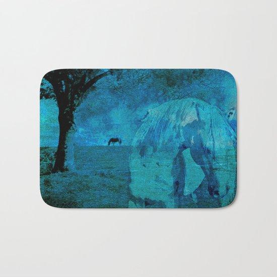 DREAM HORSE BLUE Bath Mat