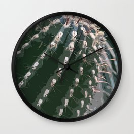 Cactus Abstract Wall Clock