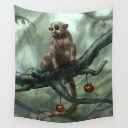 Cherry Monkey Wall Tapestry