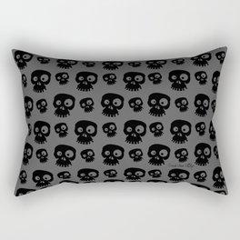 Skulls - grey/black Rectangular Pillow