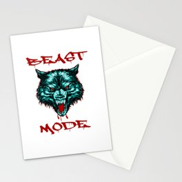 beast mode Stationery Cards