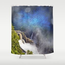 Wild waterfall in abstract Shower Curtain