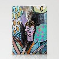 namaste Stationery Cards featuring Namaste by kristenheinlein