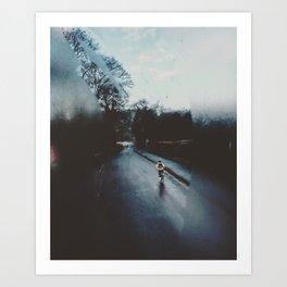 Winter morning transport Art Print