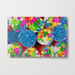 Bouquets of tiny colorful flowers Metal Print