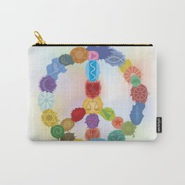 Peace Sign In Colors Carry-All Pouch