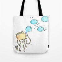 hippy Tote Bags featuring Hippy Jelly. by Devin